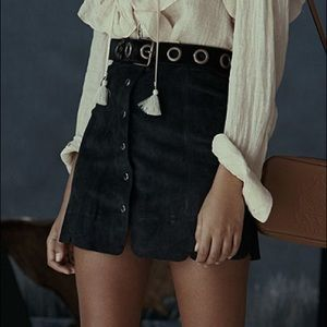 Isabel Marant Etoile   Suede Anna Skirt Size 38
